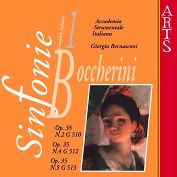 Boccherini: Sinfonie Nos. 2, 4 & 5, Op. 35, Vol. 1