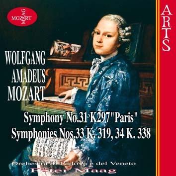 "Mozart: Symphonies No. 31 K. 297 ""Paris"", No. 33 K. 319 & No. 34 K. 338"